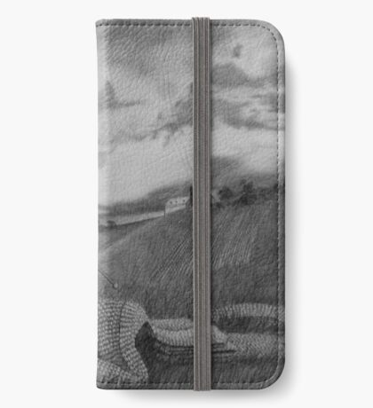 ...another ink and ivory scarf... iPhone Wallet/Case/Skin
