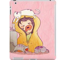 Sleepy Cat Lady iPad Case/Skin