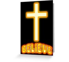 Jesus Christ Son of God Lord Believe Greeting Card