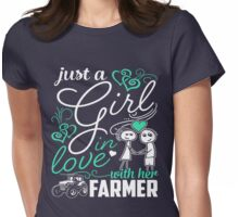 Just A Girl In Love Farmer Womens Fitted T-Shirt