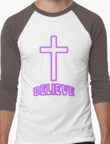 Jesus Christ Son of God Lord Believe Men's Baseball ¾ T-Shirt
