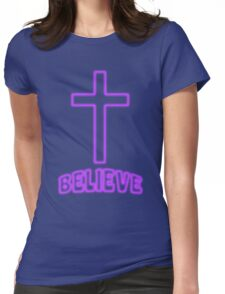 Jesus Christ Son of God Lord Believe Womens Fitted T-Shirt