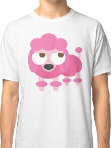 Pink Poodle Dog Emoji Thinking Hard and Hmm Face Classic T-Shirt