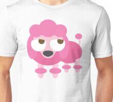 Pink Poodle Dog Emoji Thinking Hard and Hmm Face Unisex T-Shirt