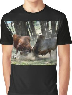 BULL FIGHT  IN THE OUTBACK Graphic T-Shirt