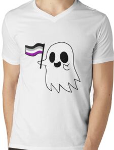 Asexual Pride Ghost Mens V-Neck T-Shirt