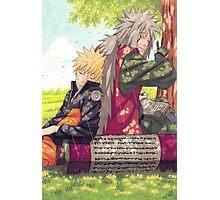 Naruto and Jiraya Photographic Print