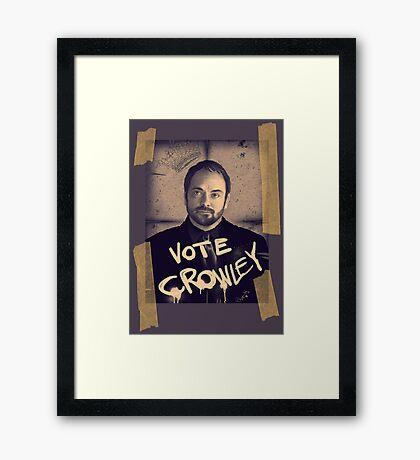VOTE CROWLEY Framed Print