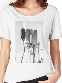 Microphone , sound recording equipment for singing Women's Relaxed Fit T-Shirt