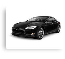 Black Tesla Model S red luxury electric car art photo print Canvas Print