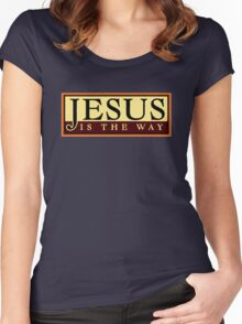 Jesus Is The Way Women's Fitted Scoop T-Shirt