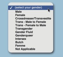Select your gender by x-pressions