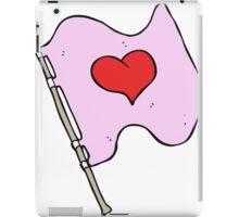 cartoon love heart flag iPad Case/Skin