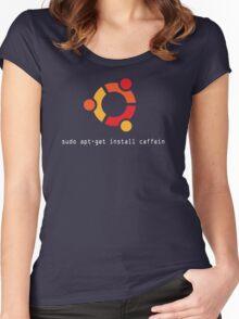 sudo apt-get install caffein Women's Fitted Scoop T-Shirt