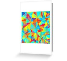 colorful abstract lowpoly Greeting Card