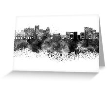 Avila skyline in black watercolor Greeting Card