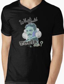 What would Tesla Do? Mens V-Neck T-Shirt