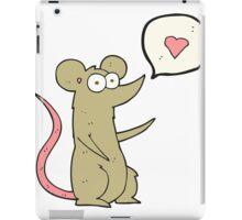 cartoon mouse in love iPad Case/Skin