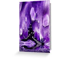 The Kings purple castle painting in wax Greeting Card