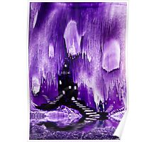 The Kings purple castle painting in wax Poster