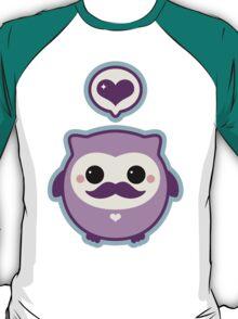 Cute Mustache Owl T-Shirt