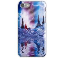 Cavern of Castles painting in wax iPhone Case/Skin