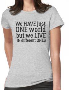 inspirational dire straits rock lyrics peace hippie t shirts Womens Fitted T-Shirt