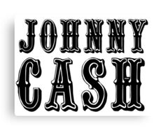 johnny cash rock icon t shirts Canvas Print