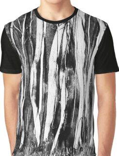 Spooky trees wax painting in black and white by UK artist Graphic T-Shirt