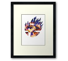 Smash Captain Falcon Framed Print