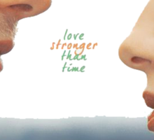 """Outlander - Jamie x Claire """"Love's stronger than time"""" Sticker"""