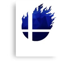 Super Smash Bros. Logo - Blue EVO Style Canvas Print