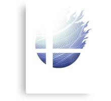Super Smash Bros. Logo - White Metal Print