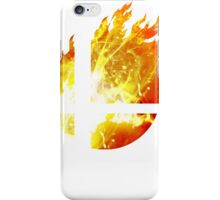 Super Smash Bros. Logo - Fire iPhone Case/Skin