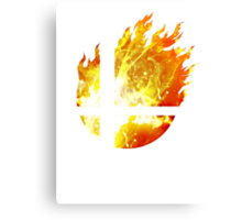 Super Smash Bros. Logo - Fire Canvas Print