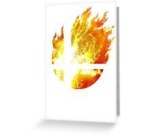 Super Smash Bros. Logo - Fire Greeting Card