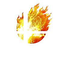 Super Smash Bros. Logo - Fire Photographic Print