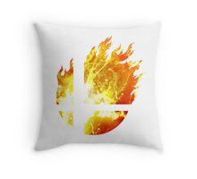 Super Smash Bros. Logo - Fire Throw Pillow