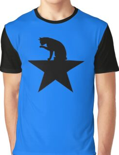 Hamilcat Black Cat Design for Alexander Hamilton fans Graphic T-Shirt