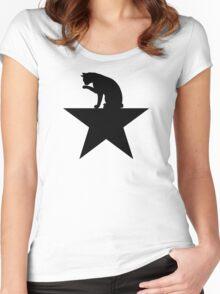 Hamilcat Black Cat Design for Alexander Hamilton fans Women's Fitted Scoop T-Shirt