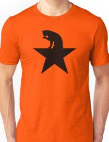 Hamilcat Black Cat Design for Alexander Hamilton fans Unisex T-Shirt