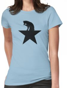 Hamilcat Black Cat Design for Alexander Hamilton fans Womens Fitted T-Shirt
