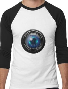 camera lens Men's Baseball ¾ T-Shirt