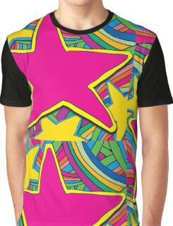 COLOURFUL STARS ILLUSTRATION Graphic T-Shirt