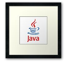 java programming language Framed Print