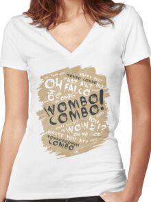 WOMBO COMBO!!! Women's Fitted V-Neck T-Shirt