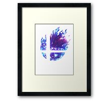 Super Smash Bros. Logo - Blue Framed Print