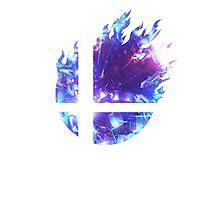Super Smash Bros. Logo - Blue Photographic Print