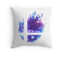 Super Smash Bros. Logo - Blue Throw Pillow