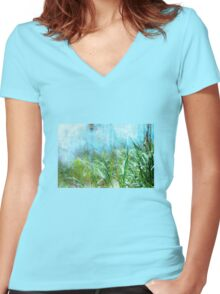 By the Sea Women's Fitted V-Neck T-Shirt